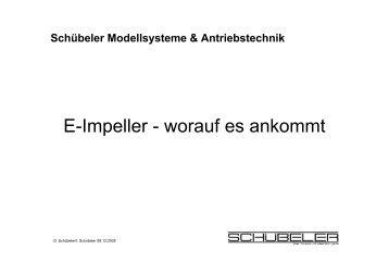 E-Impeller - worauf es ankommt - silentwings.ch