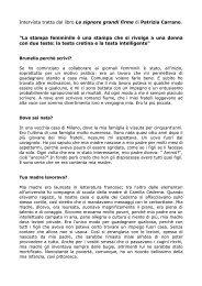 Intervista tratta dal libro Le signore grandi firme di Patrizia Carrano ...