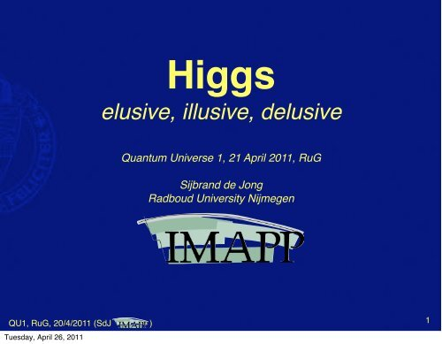 The Higgs: elusive, illusive, delusive.pdf - Theoretical High-Energy ...
