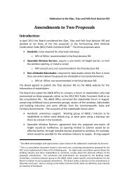The Amended Proposals - Australian Building Codes Board