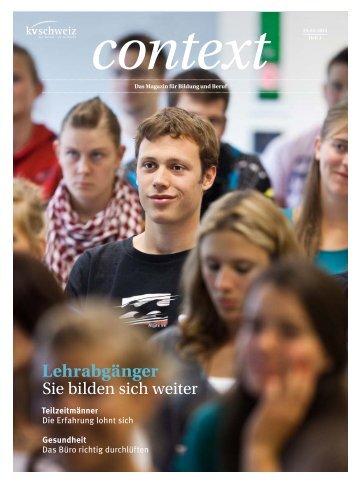 Context Nr. 4 / April 2013 - Lehrabgänger (PDF, 5426 ... - KV Schweiz