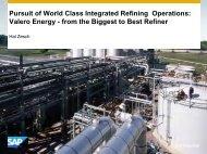 Pursuit of World Class Integrated Refining Operations - petrofed ...