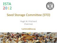 Progress - International Seed Testing Association