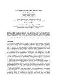 TerraNetwork: Sistema de Análise de Redes Urbanas Geraldo ...