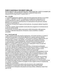 regolamento per la detenzione nel territorio del parco di ... - Parks.it