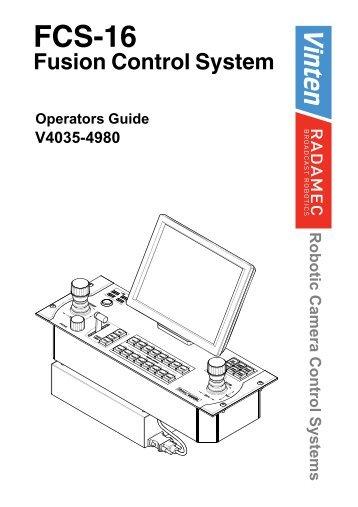 Operators Guide - Vinten Radamec