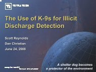 The Use of K-9s for Illicit Discharge Detection - Michigan Water ...