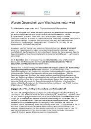 Warum Gesundheit zum Wachstumsmotor wird - Wien Holding