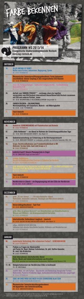 Faltblatt ESG Semesterprogramm Winter 2013/14 - ESG Rostock