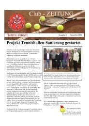 Projekt Tennishallen-Sanierung gestartet - TSG Bürgel Tennis