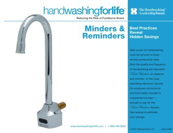 Minders & Reminders - Handwashing for Life Foodservice
