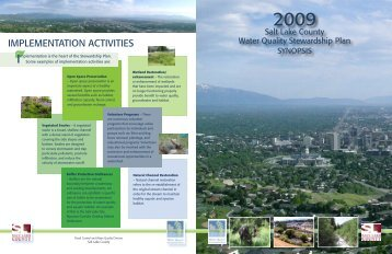 iMPLEMENTATiON ACTiViTiES - Watershed Planning and ...