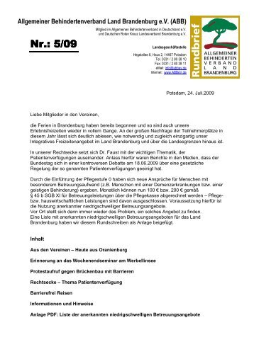 Verein Oberhavel - ABB eV