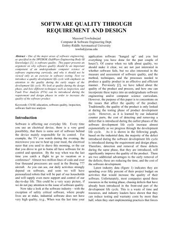 SOFTWARE QUALITY THROUGH REQUIREMENT AND DESIGN