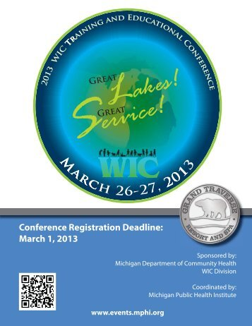 2013 WIC Training & Educational Conference Registration Brochure