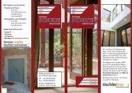 Wir fertigen und montieren: · Fenster und Türen - aus Holz - aus ...