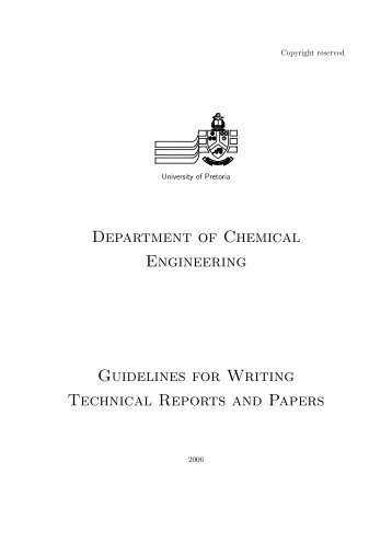technical writing reports