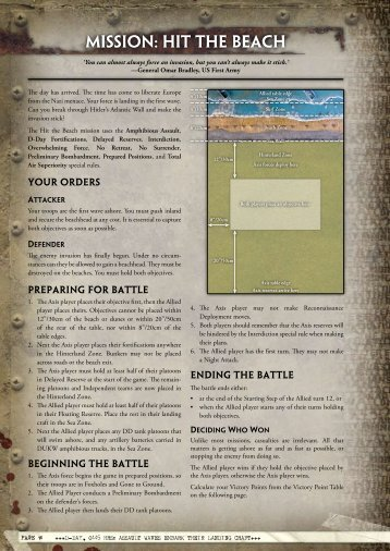 MIssIon: HIt tHe BeACH - Flames of War
