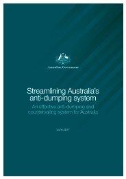 Streamlining Australia's anti-dumping system - Australian Industry ...
