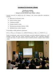 Vyhodnocení semináře - AD&M