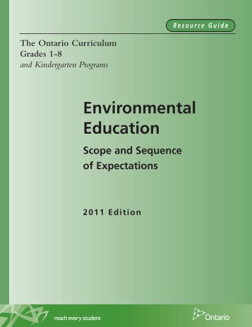 The Ontario Curriculum, Grades 1–8 and Kindergarten Programs ...