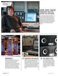Inhalt als PDF downloaden - Sound & Recording