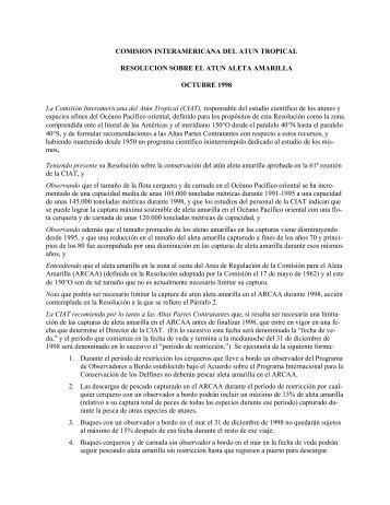 C-98-07 - Comisión Interamericana del Atún Tropical