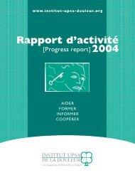 IUD RA 2004 - Institut upsa de la douleur