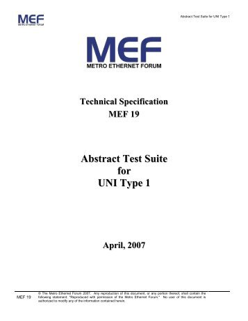 Carrier ethernet 20 certification blueprint version11 mef abstract test suite for uni type 1 mef malvernweather Image collections