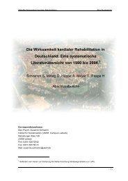 Die Wirksamkeit kardialer Rehabilitation in Deutschland: Eine ... - vffr