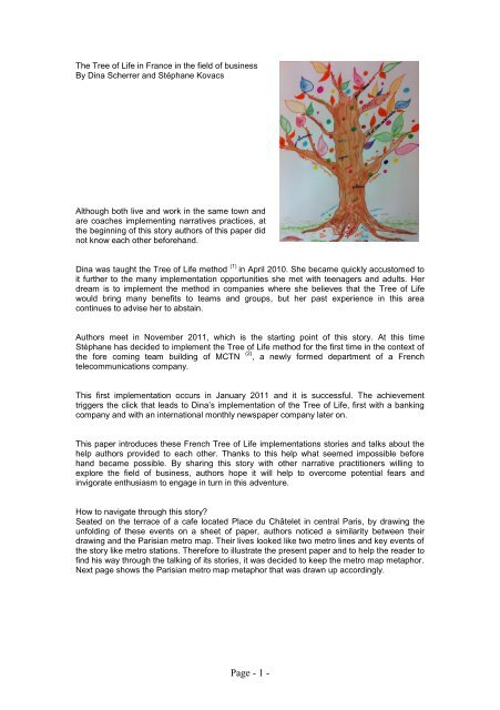 The Tree of Life in France in the field of business