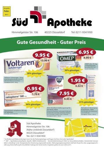 Gute Gesundheit - Guter Preis - Marien Apotheke