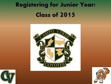 Class of 2015 Counseling Registration Presentation - Gilbert Public ...
