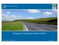Strategies for Integrated Emission Control - Clean Diesel ...