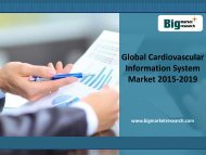 2015 Global Cardiovascular Information System Market Demand till 2019