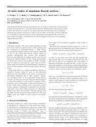 Ab initio studies of aluminium fluoride surfaces - STFC's ...