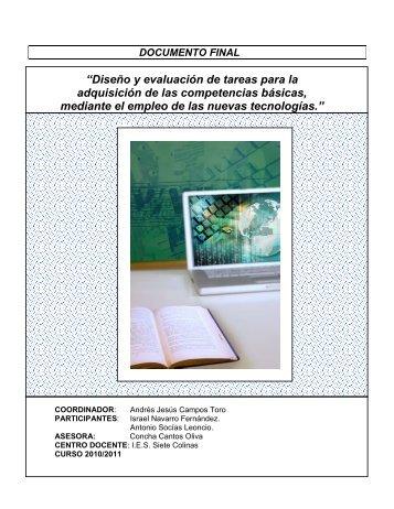 """""""Diseño y evaluación de tareas para la adquisición de ... - CPR Ceuta"""