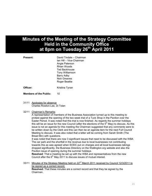 April 2011 - Watlington Parish Council