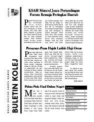 Buletin Kolej Edisi Ogos 2006