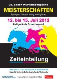 15. Juli 2012 - Baden-Württembergische Meisterschaften in ...