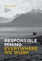 2010 Corporate Responsibility Report - Centerra Gold