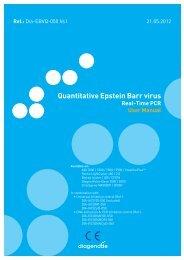 Quantitative Epstein Barr virus - Diagenode Diagnostics