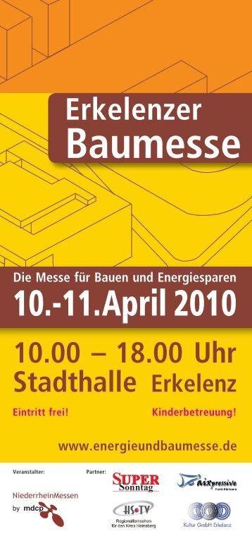 29. - 30. Mai 2010 Stadthalle Erkelenz - Erkelenzer Baumesse