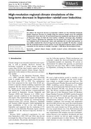 High-resolution regional climate simulations of the long-term ...