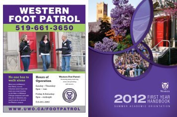 WESTERN FOOT PATROL - Academic Calendar