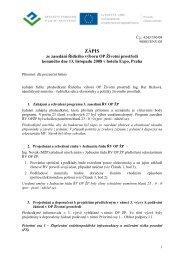 Zápis III. zasedání ŘV OPŽP 13. 11. 2008