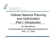 Cellular Network Planning and Optimization Part I: Introduction
