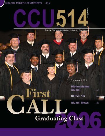 Distinguished Alumni SERVE '06 Alumni News - Cincinnati Christian ...