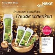 Freude schenken - HAKA Kunz