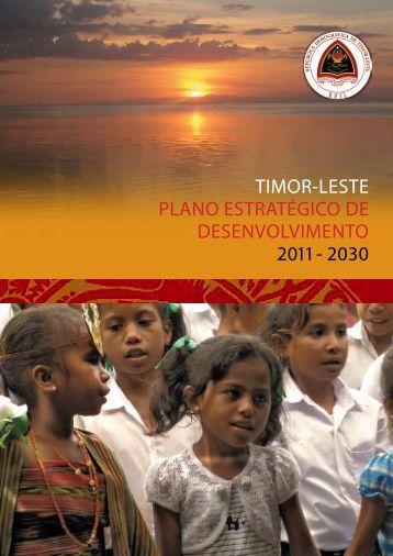 Plano Estratégico de Desenvolvimento Timor-Leste - Governo de ...